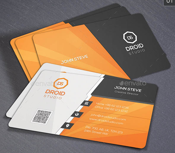16 cool shiny business card psds