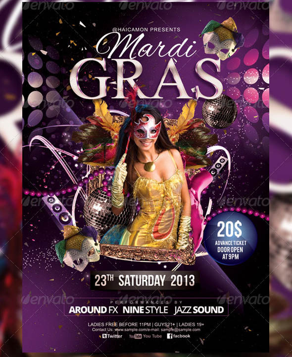 17 cool mask party flyer templates  u2013 design freebies