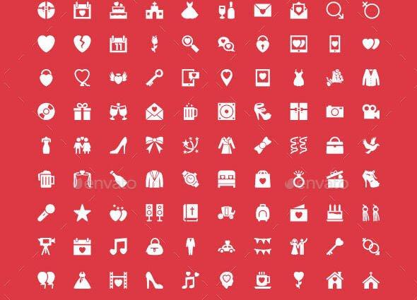 75 Wedding Vector Icons