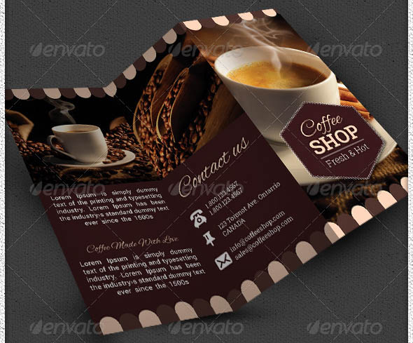 17 cool brochure templates for coffee shop  u2013 design freebies