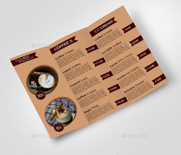 17 cool brochure templates for coffee shop � design freebies