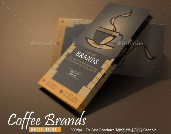 Coffee Shop Brochure Template  Resume Template Sample