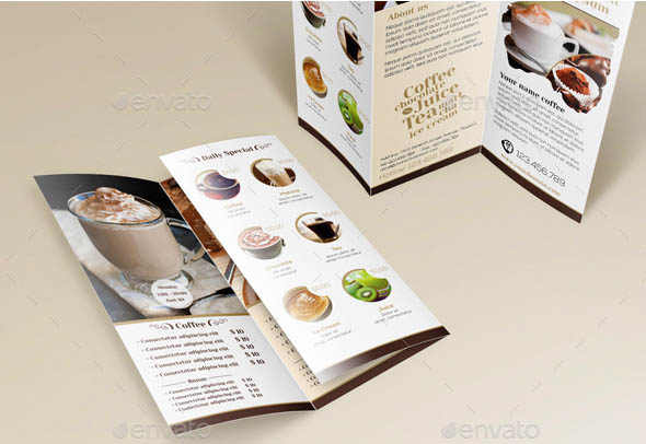 17 Cool Brochure Templates For Coffee Shop – Design Freebies