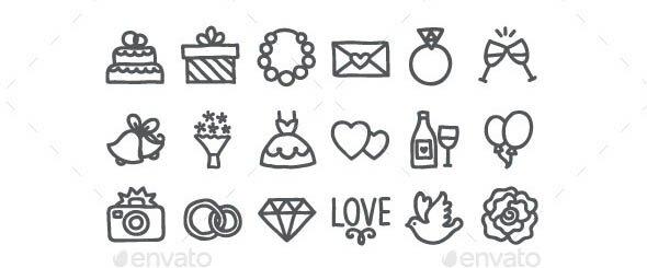 Hand Drawn Wedding Icons