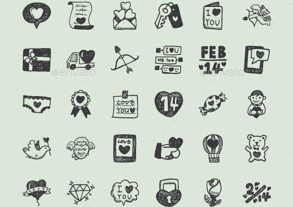 Love Hand Drawn Icons