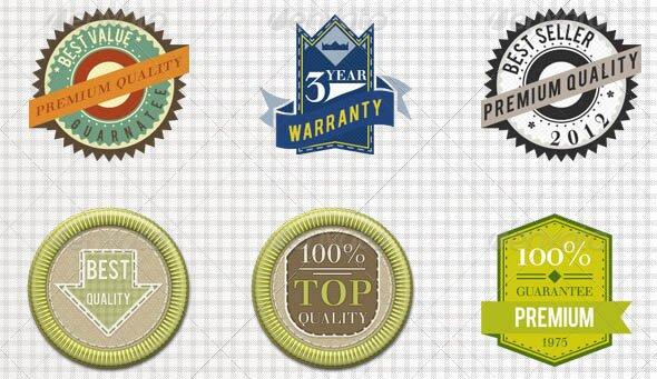 Vintage Badges 01