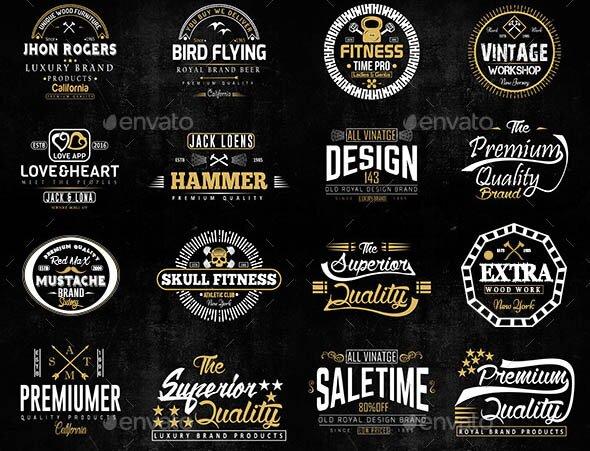 Vintage Badges 02