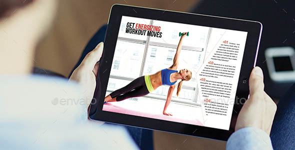 Healthy Magazine Tablet Template