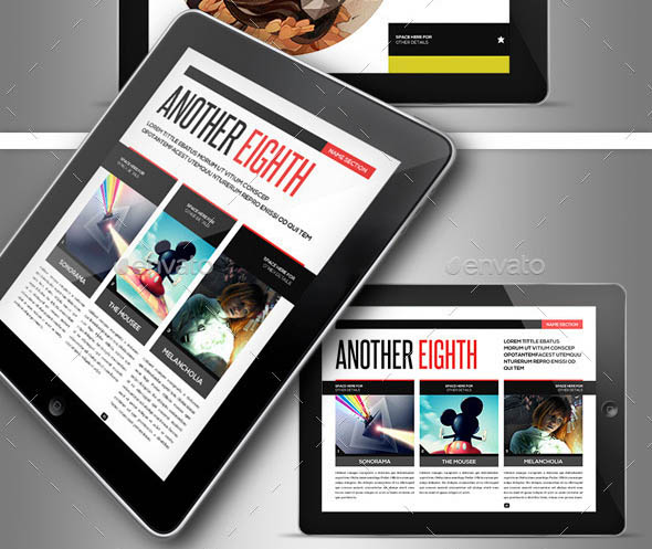 Next Magazine for Tablet Indesign Template