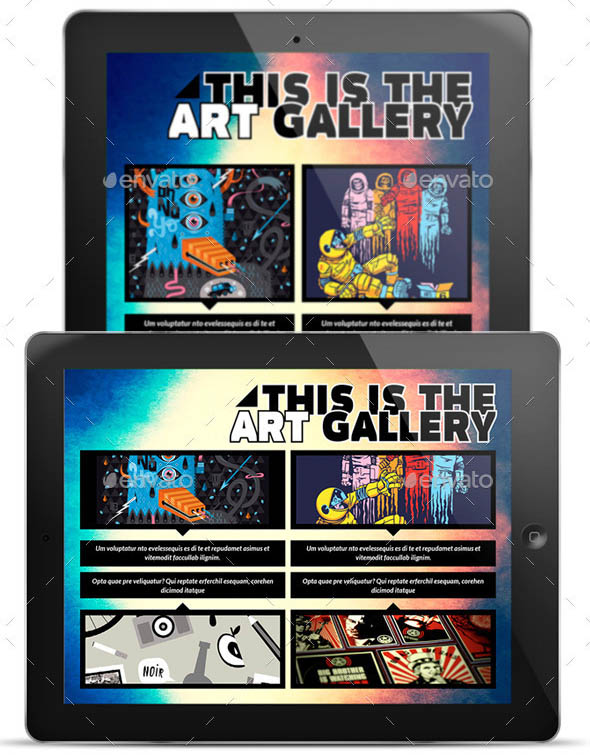 The Elements for Tablet Indesign