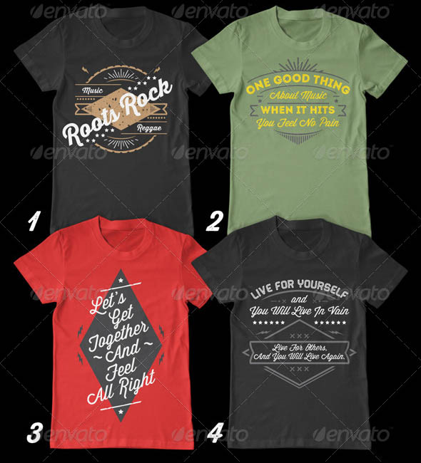 Vintage Music T-Shirt Vol 1