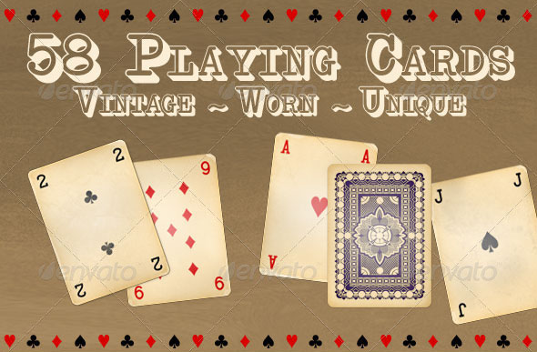 58 Vintage Playing Cards