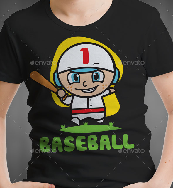 Baseball Kids T-Shirt Design