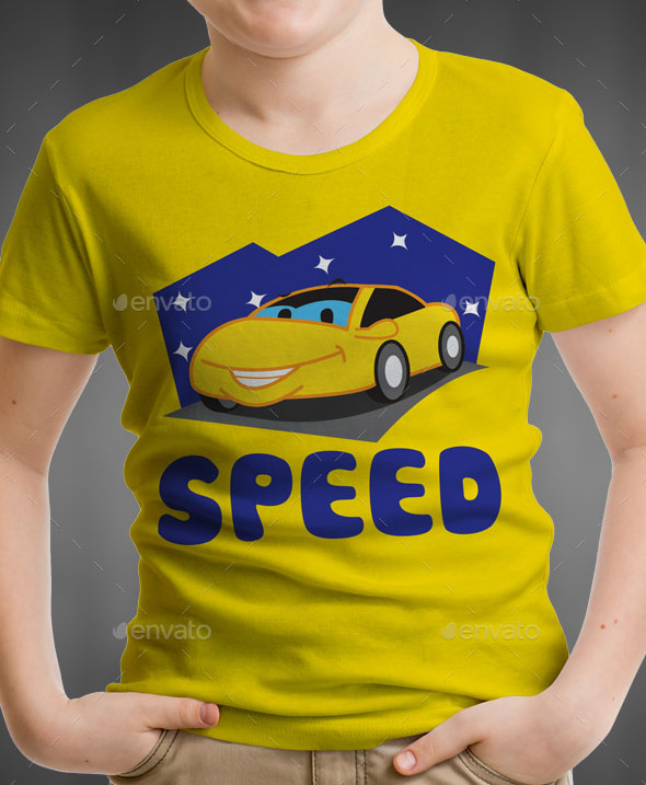 Car Kids T-Shirt Design