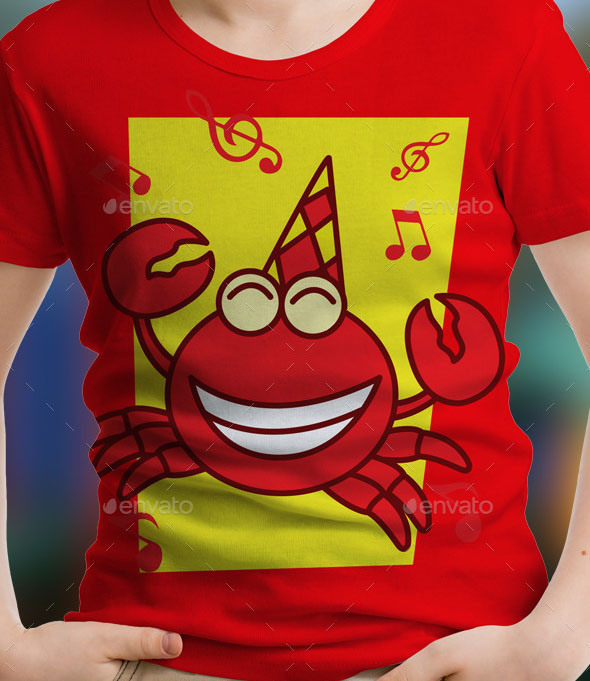Crab Kids T-Shirt Design