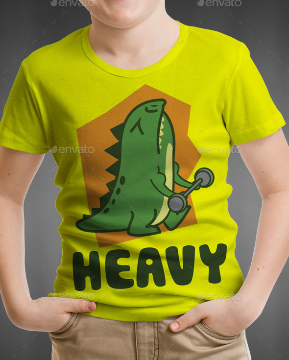 Dino Kids T-Shirt Design