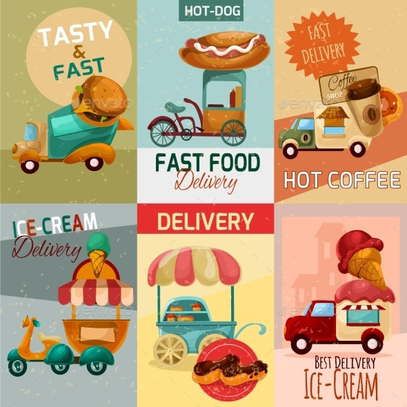 Fast Food Delivery Posters