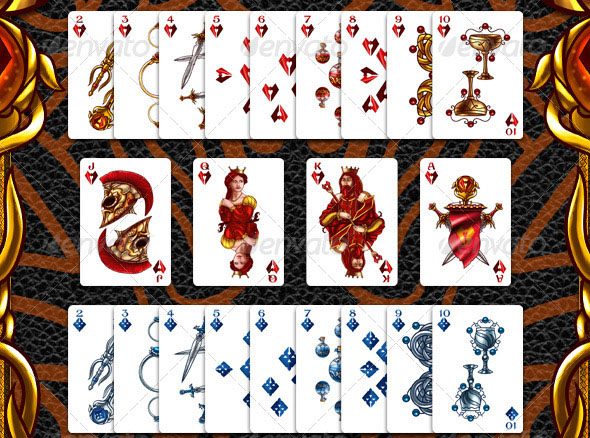 Full Deck of Fantasy Playing Cards