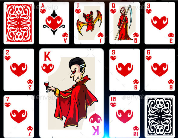 Full Deck of Halloween Playing Cards