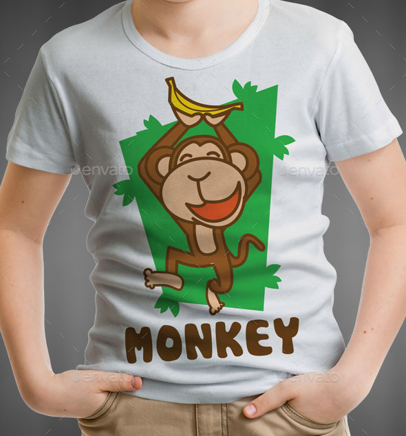 Monkey Kids T-Shirt Design