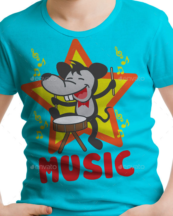 Mouse Kids T-Shirt Design