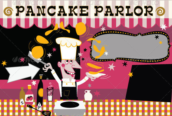 Pancakes Food Event Poster Background
