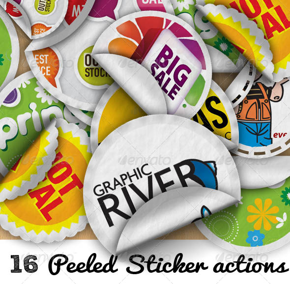 Peeled Sticker Photoshop Creator