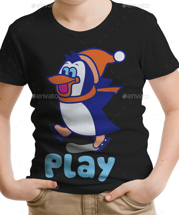 Penguin Kids T-Shirt Design