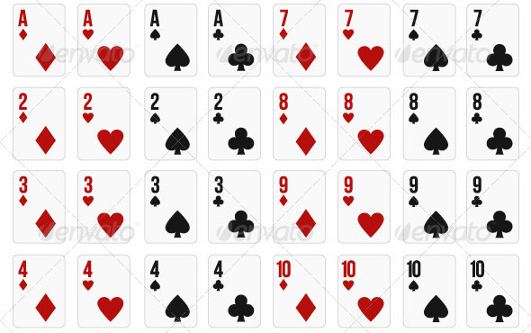 Set of 52 Playing Cards for Online Gaming