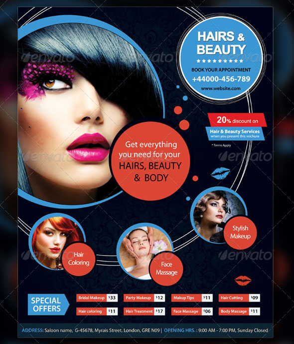 Hair Style Template: 16 Cool Flyer Templates For Hair