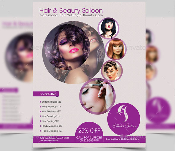 Hair Beauty Saloon Flyer