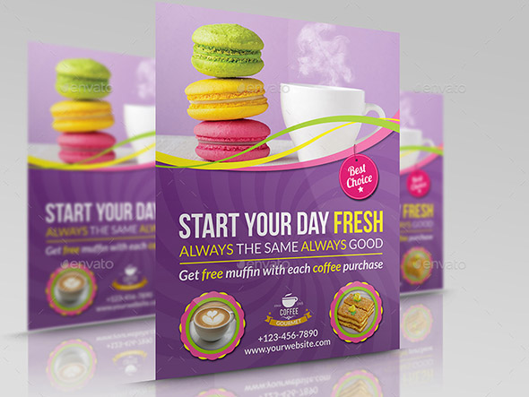 Cafe Restaurant Flyer Template Vol 4