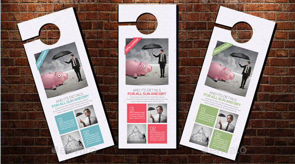 Corporate Door Hangers Template