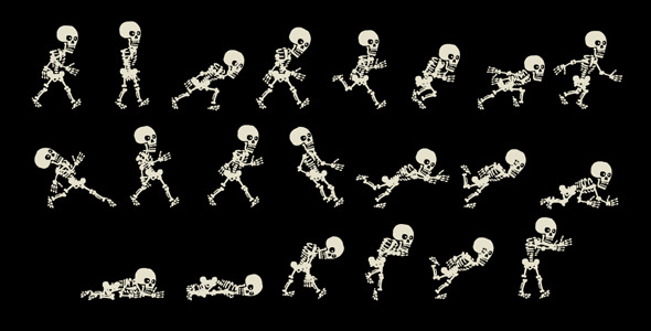 19 nice skeleton motion graphics – design freebies, Skeleton