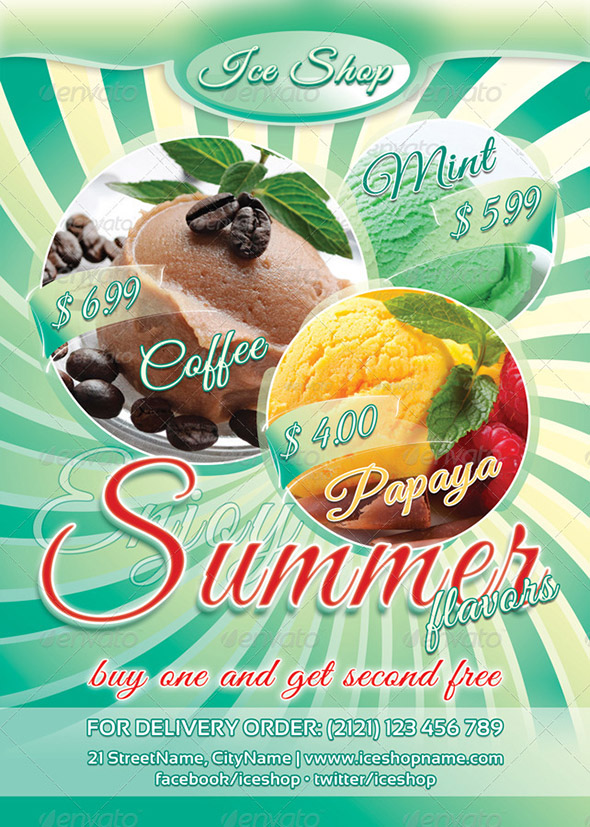 Summer Flavors Flyer Template 43
