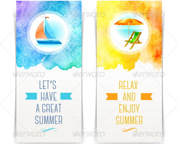Vacation and Travel Banners