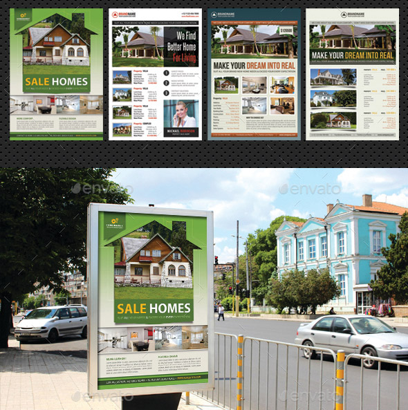 4 in 1 Real Estate Agency Poster Bundle