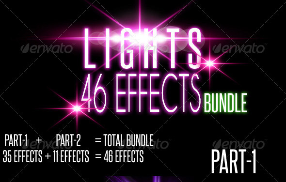 46 Lens Flares with Light Effects Bundle