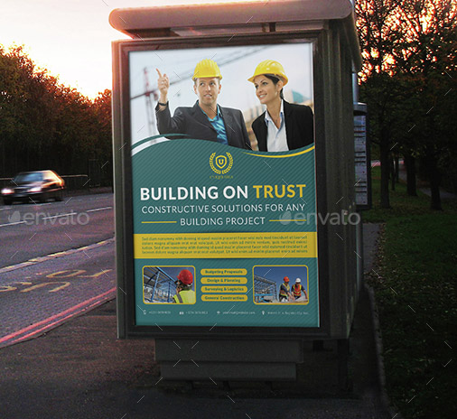 Construction Services Poster Template Vol 2