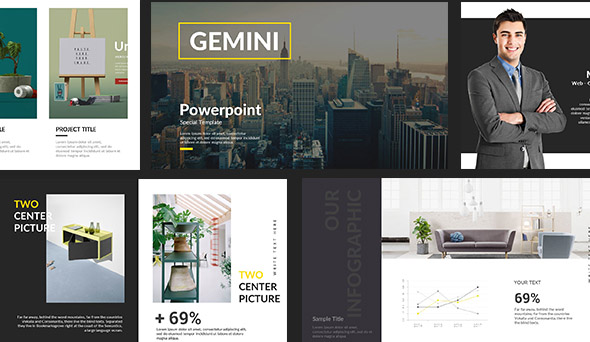 Gemini Creative Powerpoint Template