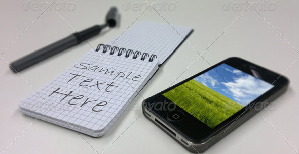 Notebook and Phone Mockup