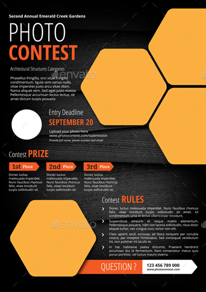 23 cool flyer templates for contest event  u2013 design freebies