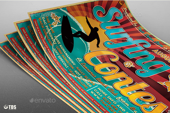 Surfing Contest Flyer Template
