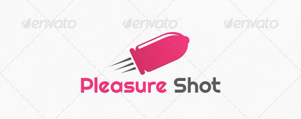 Pleasure Shot Logo Template