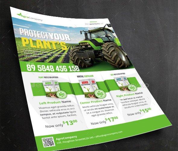 23 cool flyer templates for farm business  u2013 design freebies