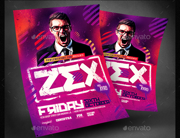 Club DJ Flyer PSD Template