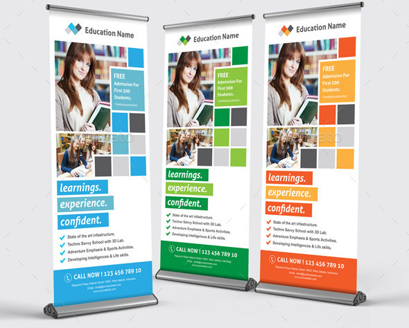 20 Cool Signage Banner Design Templates For Education