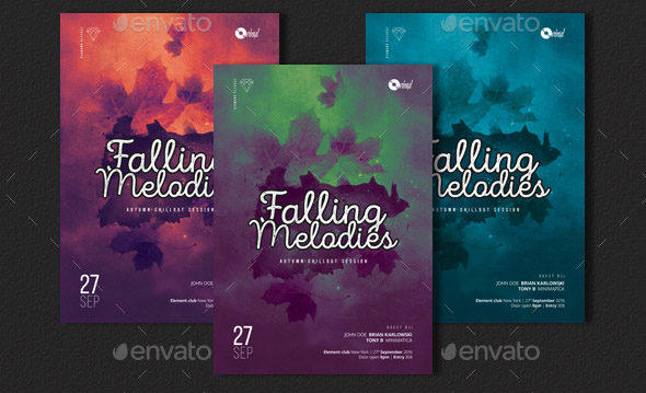 Falling Melodies Chillout Session Flyer
