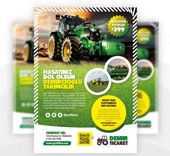 23 Cool Flyer Templates For Farm Business – Design Freebies