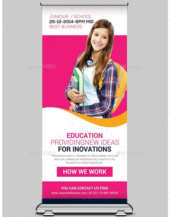 junior-school-education-roll-up